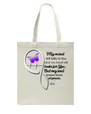 Purple Butter My Mind Still Talks Heartbeat - LTE  Tote Bag thumbnail