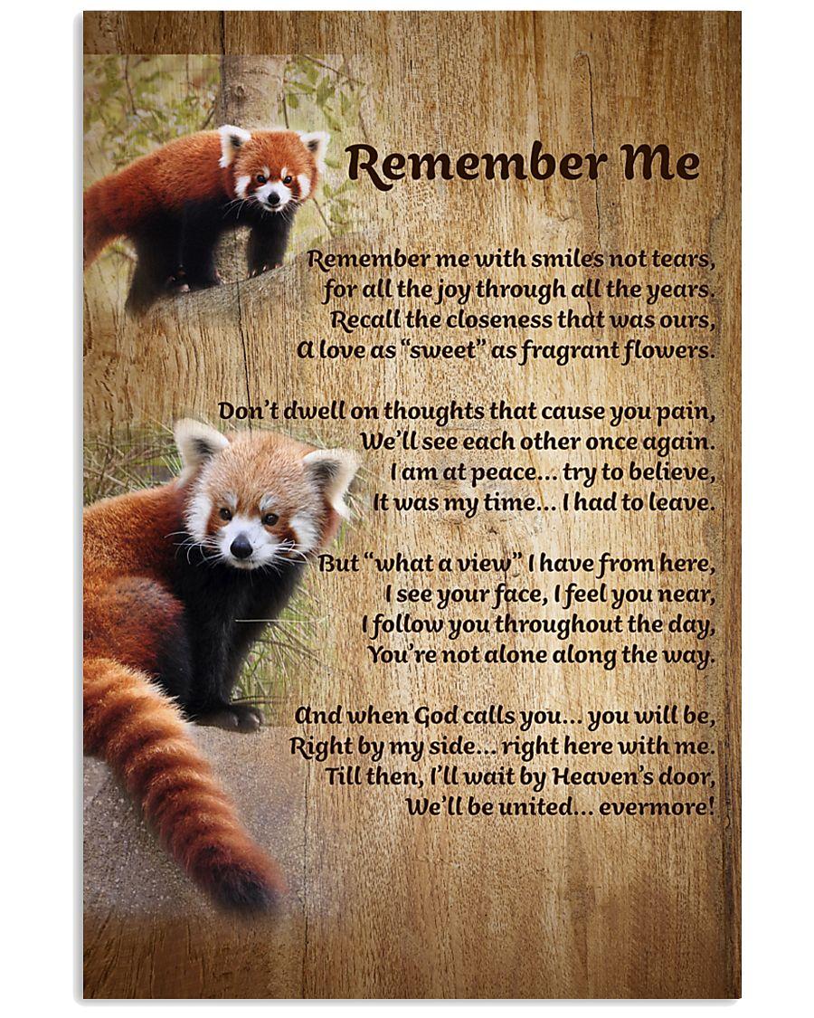 RED PANDA REMEMBER ME POSTER 11x17 Poster