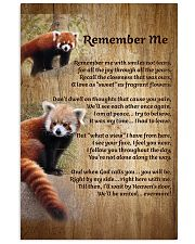 RED PANDA REMEMBER ME POSTER 11x17 Poster front