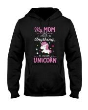 Unicorn Tee Shirt Hooded Sweatshirt thumbnail