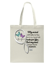 Butterfly My Mind Still Talks Heartbeat - LTE  Tote Bag thumbnail