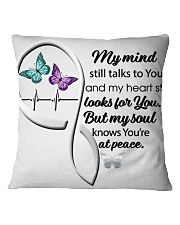 Butterfly My Mind Still Talks Heartbeat - LTE  Square Pillowcase thumbnail