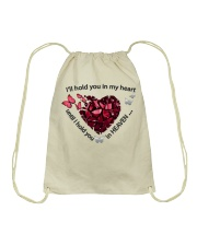 Butterfly I Will Hold You In My Heart - LTE  Drawstring Bag thumbnail