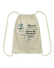 Blue Butterfl My Mind Still Talks Heartbeat - LTE  Drawstring Bag thumbnail