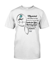 Blue Butterfl My Mind Still Talks Heartbeat - LTE  Classic T-Shirt front