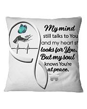 Blue Butterfl My Mind Still Talks Heartbeat - LTE  Square Pillowcase thumbnail