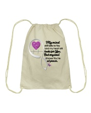 Family Butterfly My Mind Still Talks To You - LTE Drawstring Bag thumbnail