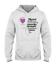 Family Butterfly My Mind Still Talks To You - LTE Hooded Sweatshirt thumbnail