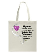 Family Dragonfly My Mind Still Talks To You - LTE Tote Bag thumbnail