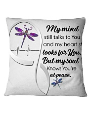 Dragonfly My Mind Still Talks Heartbeat Ver - LTE  Square Pillowcase thumbnail