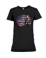 GOALIE LACROSSE FLAG Premium Fit Ladies Tee thumbnail
