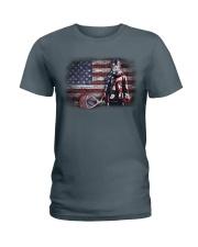 GOALIE LACROSSE FLAG Ladies T-Shirt thumbnail