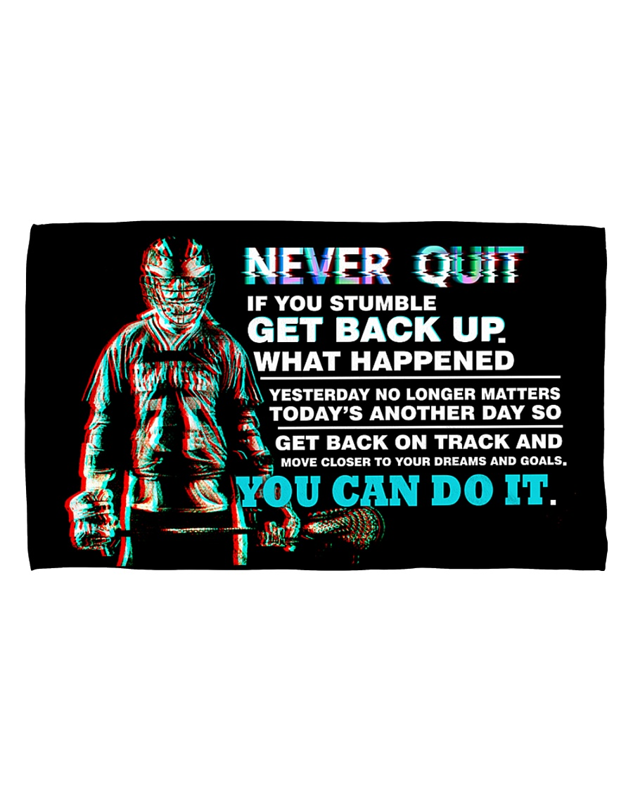 NEVER QUIT Hand Towel (horizontal)