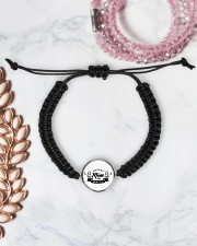 HOCKEY MOM MAFIA Cord Circle Bracelet aos-bracelet-cord-front-lifestyle-1