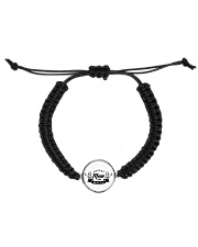 HOCKEY MOM MAFIA Cord Circle Bracelet front