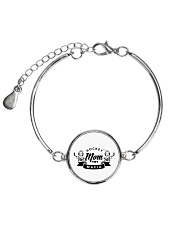 HOCKEY MOM MAFIA Metallic Circle Bracelet tile