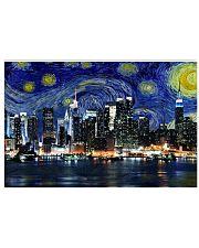 New York Starry Night Skyline 17x11 Poster thumbnail