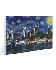 New York Starry Night Skyline 30x20 Gallery Wrapped Canvas Prints thumbnail