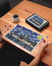 New York Starry Night Skyline 250 Piece Puzzle (horizontal) aos-jigsaw-puzzle-250-pieces-horizontal-lifestyle-front-05