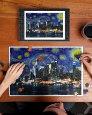 New York Starry Night Skyline 250 Piece Puzzle (horizontal) aos-jigsaw-puzzle-250-pieces-horizontal-lifestyle-front-11