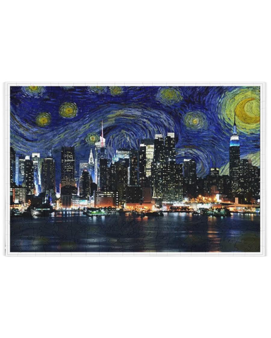 New York Starry Night Skyline 250 Piece Puzzle (horizontal)