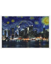 New York Starry Night Skyline 250 Piece Puzzle (horizontal) front