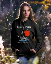 Sailing shirts - Home is where the Sailboat is  Hooded Sweatshirt lifestyle-holiday-hoodie-front-5