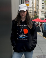 Sailing shirts - Home is where the Sailboat is  Hooded Sweatshirt lifestyle-unisex-hoodie-front-5