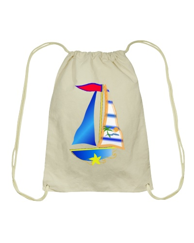 Sail inspired Drawstring Bag - Sailing clothes