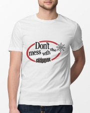 Don't Mess with the skipper - Sailing clothes  Classic T-Shirt lifestyle-mens-crewneck-front-13