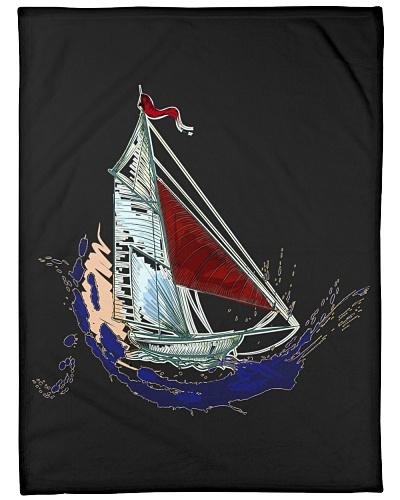 Sailboat Fleece Blanket - Large