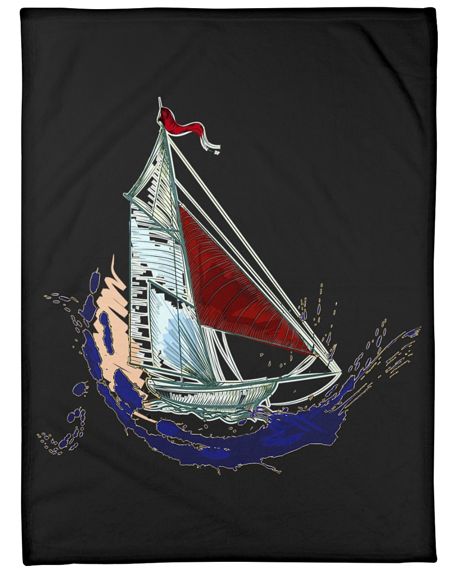 "Sailboat Fleece Blanket - Large  Large Fleece Blanket - 60"" x 80"""