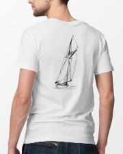 Sailing Shirt - Sailboat Art Collection  Classic T-Shirt lifestyle-mens-crewneck-back-5