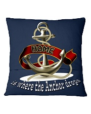 Home is Where the Anchor Drops Throw Pillow Cover Square Pillowcase back
