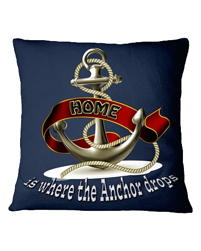 Home is Where the Anchor Drops Throw Pillow Cover