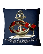 Home is Where the Anchor Drops Throw Pillow Cover Square Pillowcase front