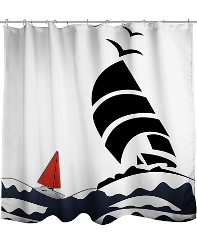 Nautical Shower Curtain for sailing fans