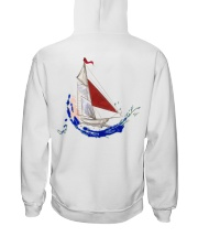 Sailboat Art Collection - Sailing Clothes  Hooded Sweatshirt back