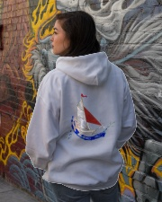 Sailboat Art Collection - Sailing Clothes  Hooded Sweatshirt lifestyle-unisex-hoodie-back-1