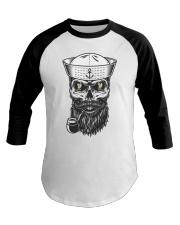 Sailing shirts - Yachting apparel - captain-skull Baseball Tee front