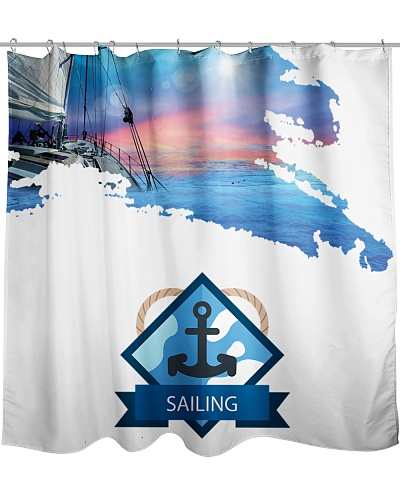 Sailboat Shower Curtain - Sailing