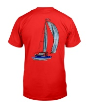 Sailing Clothes for Yachting fans - Sailboat Classic T-Shirt back