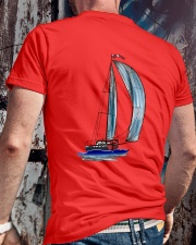 Sailing Clothes for Yachting fans - Sailboat Classic T-Shirt lifestyle-mens-crewneck-back-2