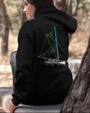 Unisex  Sailing Hoodies - Sailboat collection  Hooded Sweatshirt apparel-hooded-sweatshirt-lifestyle-06
