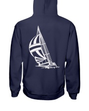 Sailing Clothes for Yachting fans - Sailboat  Hooded Sweatshirt back
