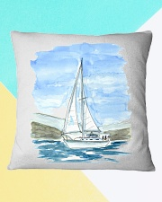 Sailboat Pillow Case - Sailing Apparel Square Pillowcase aos-pillow-square-front-lifestyle-13
