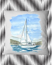 Sailboat Pillow Case - Sailing Apparel Square Pillowcase aos-pillow-square-front-lifestyle-7