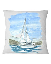 Sailboat Pillow Case - Sailing Apparel Square Pillowcase back