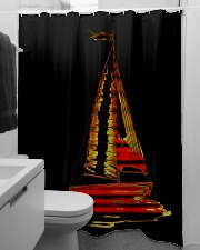 Sailboat Shower Curtain Shower Curtain aos-shower-curtains-71x74-lifestyle-front-04