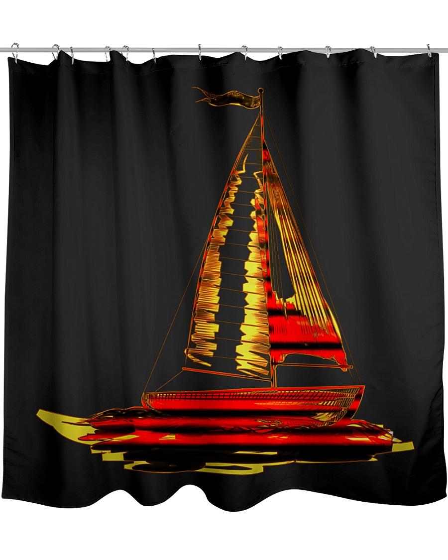 Sailboat Shower Curtain Shower Curtain